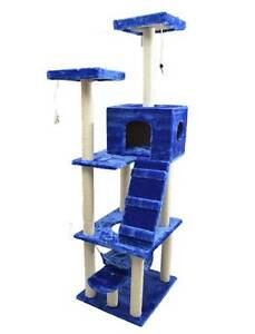 190cm Tall Blue Large Cat Scratching Pole Scrach Post Gym Tree Mordialloc Kingston Area Preview