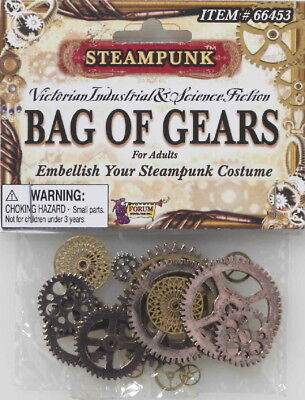 SteamPunk Cosplay Victorian Style Industrial Bag of Gears, NEW SEALED