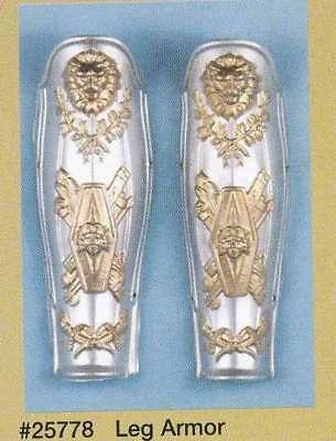 Roman Leg Guards Adult Pair Of Plastic Or Foam Ancient Period Costume Accessory