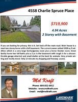Private 5 Acres - 2 story with Basement Home