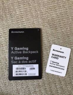 Lenovo Y gaming Active Backpack LIKE NEW