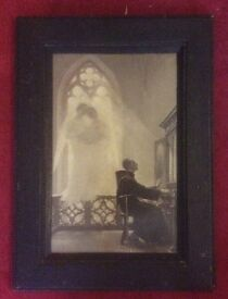 Quirky old framed print/picture