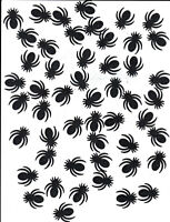 Lot of Halloween 50 Glitter Black Spider Cutouts