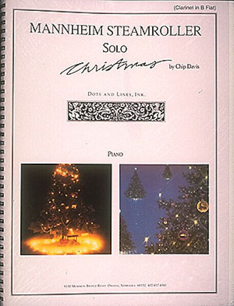 Mannheim Steamroller Solo Christmas for Clarinet Sheet Music Hal Leonard Book