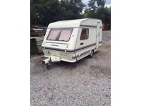 Compass Omega 1996. Full awning . 2 berth caravan. Can deliver.