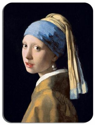 Girl with a Pearl Earring Mouse Mat. High Quality Jan Vermeer Art Mouse Pad Gift - Girl Art Mouse Pad