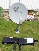 Bell Express View Dual head Dish plus 2 2700 receivers.