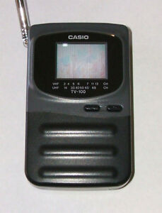 "Casio 1.6"" portable TV"