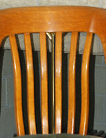 Set 4 Solid Wood Antique Kitchen Dining Room Chairs-Furniture