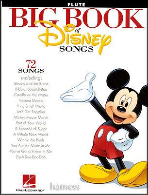 Big Book of Disney Songs Flute Sheet Music Book 72 Tunes Instrumental Folio