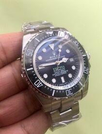 Two tone rolex deepsea seadweller watch