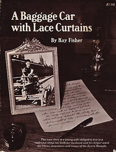 A BAGGAGE CAR WITH LACE CURTAINS by Kay Fisher