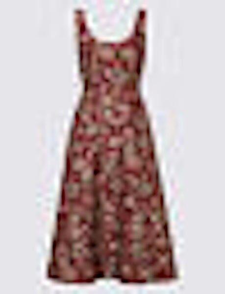 PER UNA JACQUARD PRINT DRESS SIZE 16 BNWT