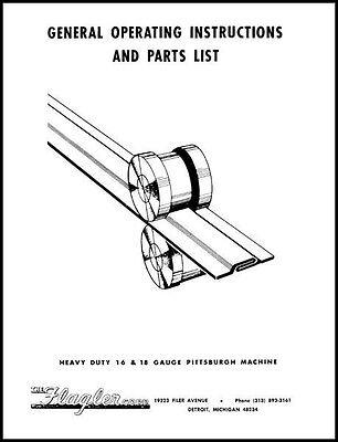 Flagler Heavy Duty 16 18 Gauge Pittsburgh Machine Manual