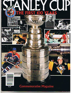 The Stanley Cup Mag. First 100 yrs. 8 Autographs