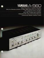 Yamaha A-560 ou a460 Integrated Amplifier 1981