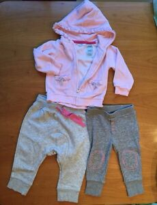 2 jogging pants 1 hoodie size 12 months West Island Greater Montréal image 1