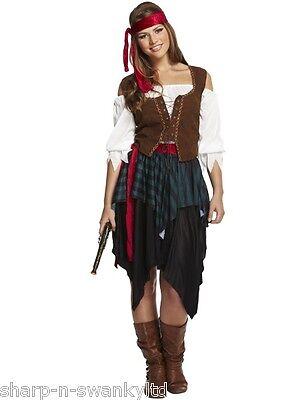 5 Stück Damen Sexy Karibischer Pirat Kostüm Kleid Outfit UK 10-14 - 5 Stück Sexy Damen Kostüm