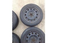Bmw 5x120 steel wheels and tyres