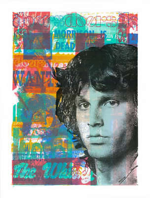"""Death Makes Angels of Us All"" Jim Morrison Art Print by Print Mafia THE"