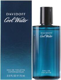 OFFERS GENUINE BNIB DAVIDOFF COOL WATER EAU DE TOILETTE 75ML! EDT SPRAY FOR HIM MAN/MEN