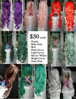 NEW Deluxe Long Curly 80cm Cosplay Wigs > SALE 2 for $50!