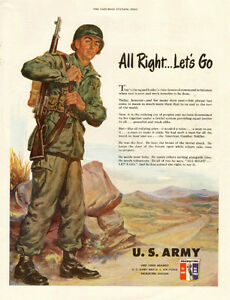 1951 full-page magazine ad for US Army Recruiting