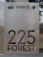 Custom Signs and Plaques - Waterjet Cutting