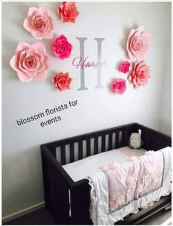 Paper flowers/ Nursery sets / Paper flowes Baby room decorations