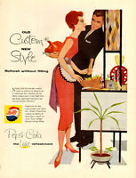 1958 large (10 ¼ x 14 ) color magazine ad for Pepsi