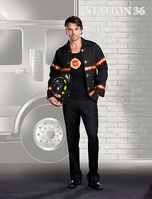 Fireman Costume For Adults (Smokin' Hot Fireman Costume for Adults w/Helmet size XL New Dreamgirl)