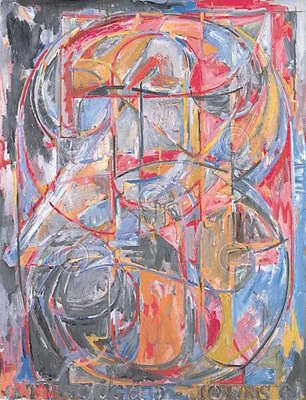 0 through 9 1961 Jasper Johns Abstract Contemporary Numbers Print Poster 26x34