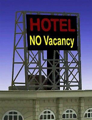 Hotel No Vacancy Animated Billboard #33-8990 Z or N Scale Miller Engineering