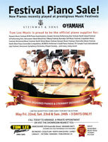 Festival Piano Sale at Tom Lee Music