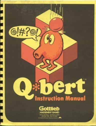 QBERT Arcade Instruction Manual by Gottlieb