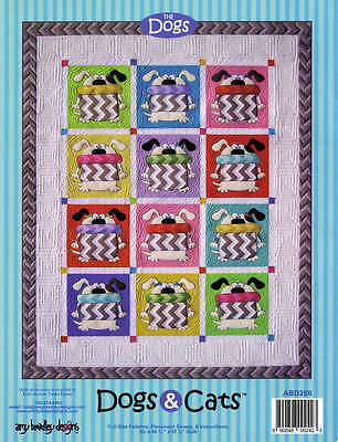 DOGS AND CATS QUILTING PATTERN, Fusible Applique From Amy Bradley Designs NEW