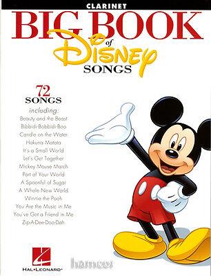 Big Book of Disney Songs Clarinet Sheet Music Book 72 Tunes Instrumental Folio