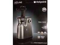 Hotpoint Slow Juicer, 400 Watt, Silver