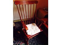 Nice Wooden Vintage Rocking Chair Good Condition Can Deliver