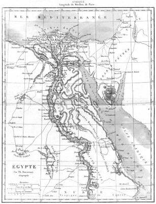 EGYPT. Afrique Africa. Egypte 1875 old antique vintage map plan chart