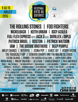 FESTIVAL D'ETE DE QUEBEC/VIP PASSES/BELOW COST/SAVE $700