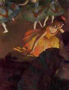 Degas-Edgar-Ballerina-And-Lady-With-A-Fan-A4-Print