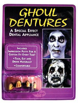 BIG BUBBA GHOUL ROTTEN TEETH DENTURES APPLIANCE COSTUME - Big White Teeth Halloween