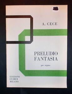 Musica-Spartiti-Afredo-Cece-Preludio-fantasia-Per-organo-1971-c-a