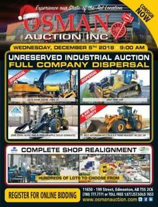 UNRESERVED INDUSTRIAL AUCTION DECEMBER 5TH IN EDMONTON, AB
