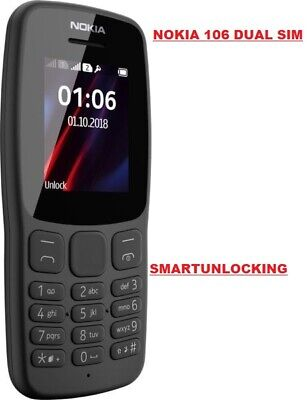 BIG BUTTON NEW Nokia 106 Dual Sim Unlocked Mobile Phone