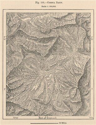 Cuenca Basin. Ecuador. Tomebamba Yanuncay Tarqui Machangara 1885 old map