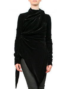 BNWT-RICK-OWENS-BLACK-VELVET-JACKET-Sz-IT42