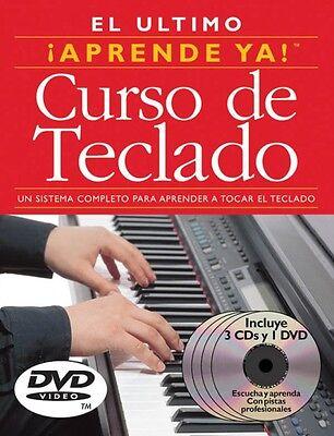 Aprende Ya! Curso de Teclado - 3 Books 3 CDs 1 DVD Boxed Set NEW 014001988