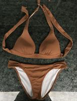 Victoria's Secret Brown/Tan Swimwear/Bathing Suit matching set